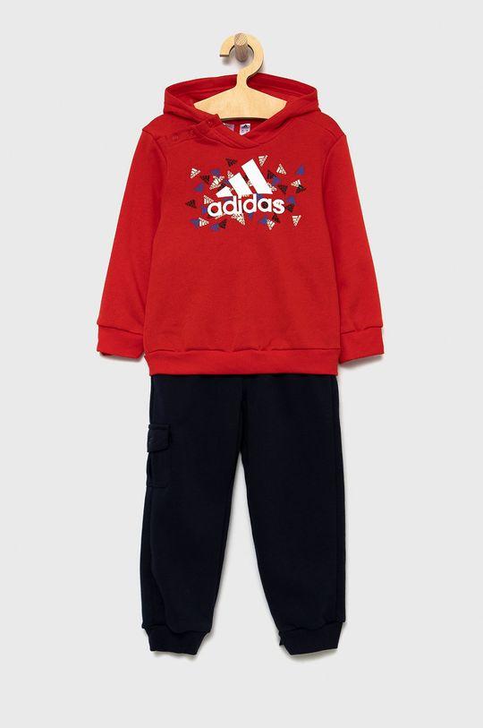 červená adidas Performance - Dětská souprava Chlapecký