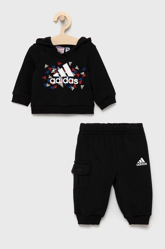 czarny adidas Performance - Dres dziecięcy Chłopięcy