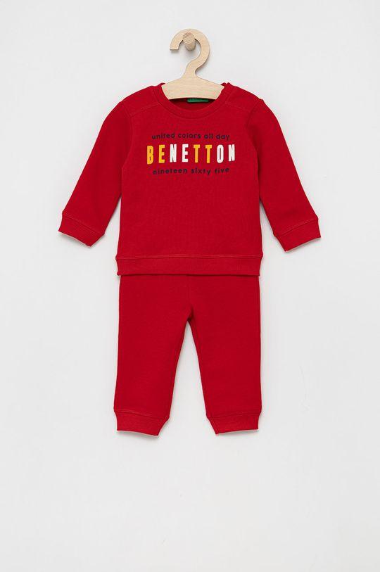 czerwony United Colors of Benetton - Dres dziecięcy Chłopięcy