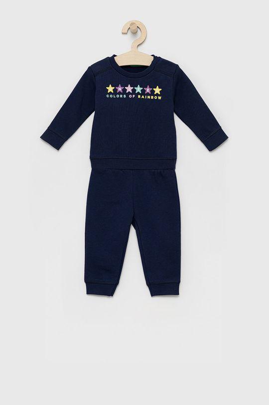 granatowy United Colors of Benetton - Dres dziecięcy Chłopięcy