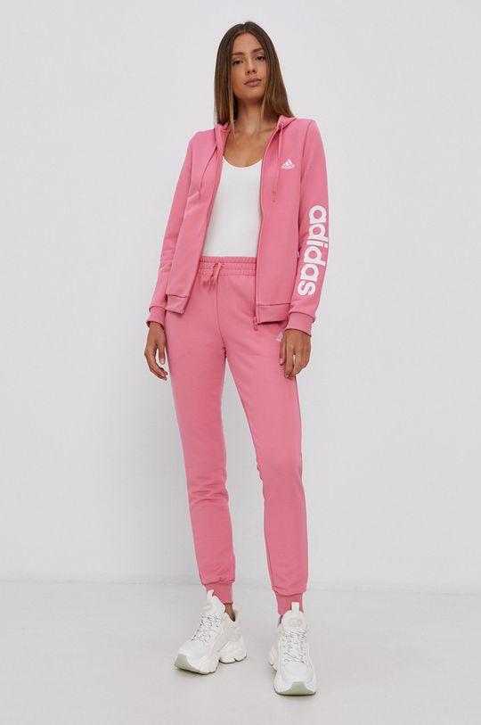 fiołkowo różowy adidas - Dres Damski