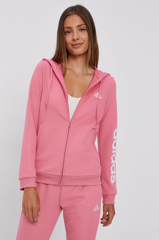 adidas - Dres fiołkowo różowy
