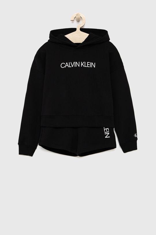 čierna Calvin Klein Jeans - Detská tepláková súprava Dievčenský