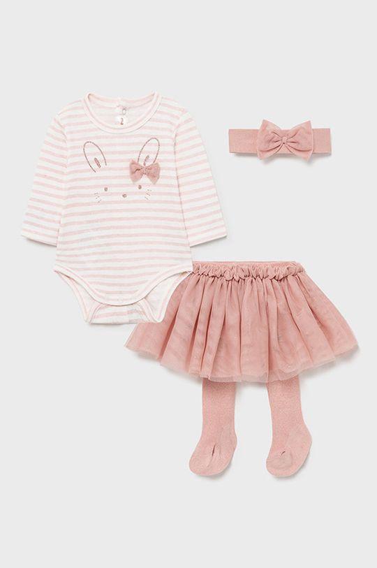 różowy Mayoral Newborn - Komplet dziecięcy Dziewczęcy