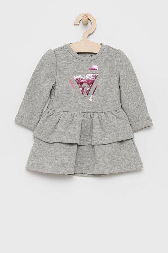 Guess - Sukienka dziecięca jasny szary