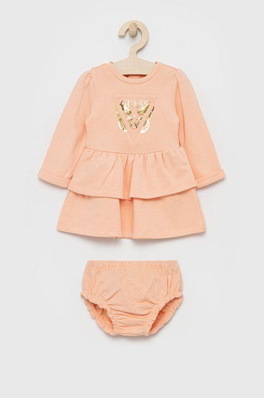 brzoskwiniowy Guess - Sukienka dziecięca Dziewczęcy