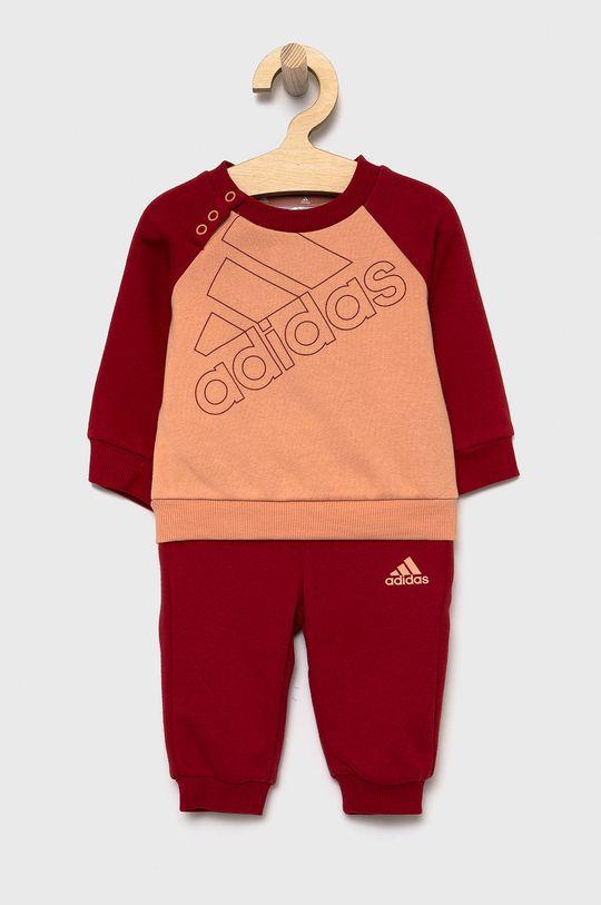 czerwony adidas - Komplet dziecięcy Dziewczęcy