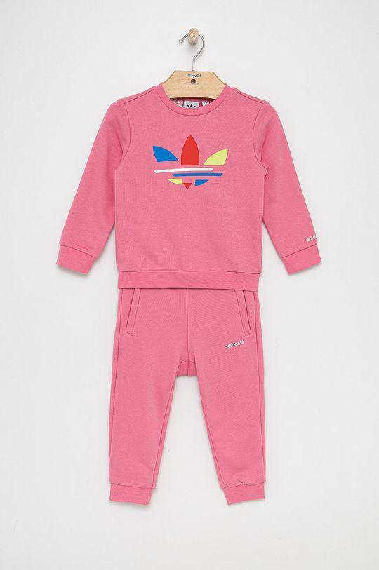 różowy adidas Originals - Komplet dziecięcy Dziewczęcy