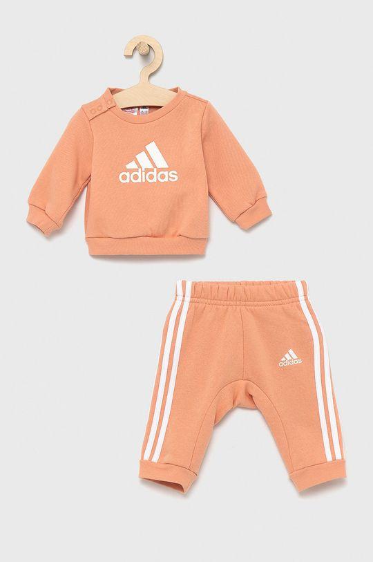 brzoskwiniowy adidas Performance - Dres dziecięcy Dziewczęcy