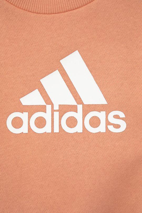 brzoskwiniowy adidas Performance - Dres dziecięcy