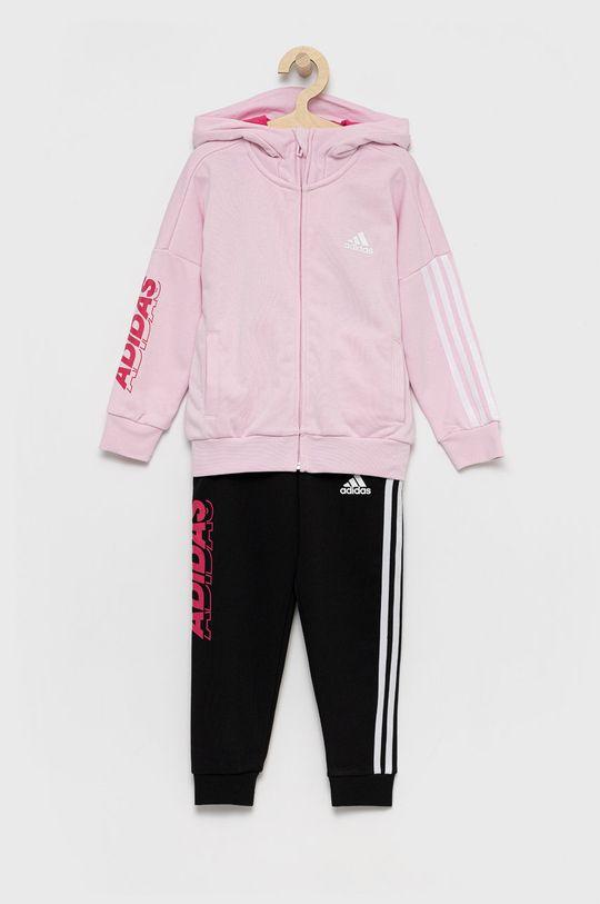 pastelowy różowy adidas Performance - Dres dziecięcy Dziewczęcy