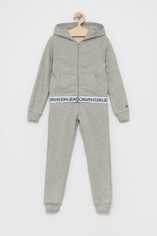 jasny szary Calvin Klein Jeans - Dres dziecięcy Dziewczęcy