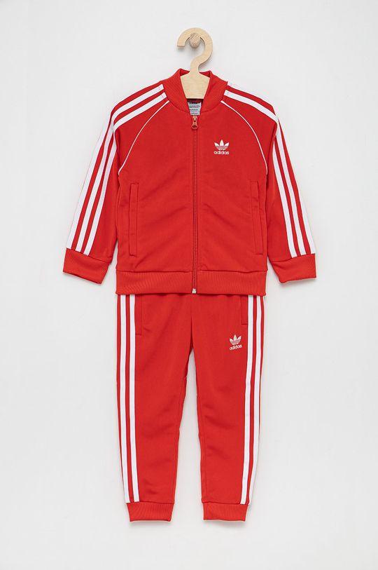 czerwony adidas Originals - Komplet dziecięcy Dziecięcy