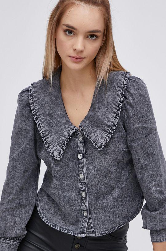 šedá Only - Bavlněná košile