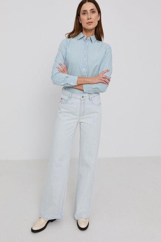 niebieski Lauren Ralph Lauren - Koszula bawełniana Damski