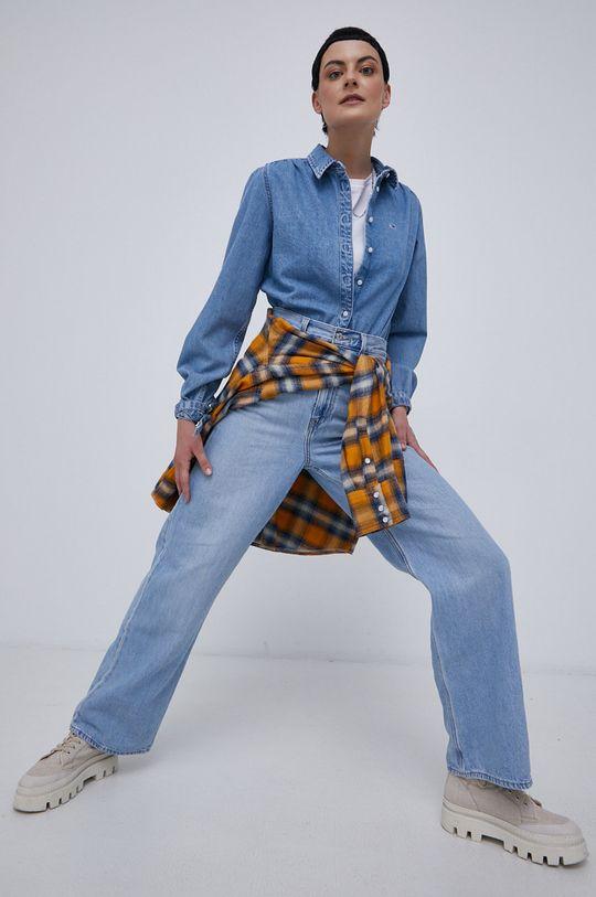 niebieski Tommy Jeans - Koszula bawełniana Damski