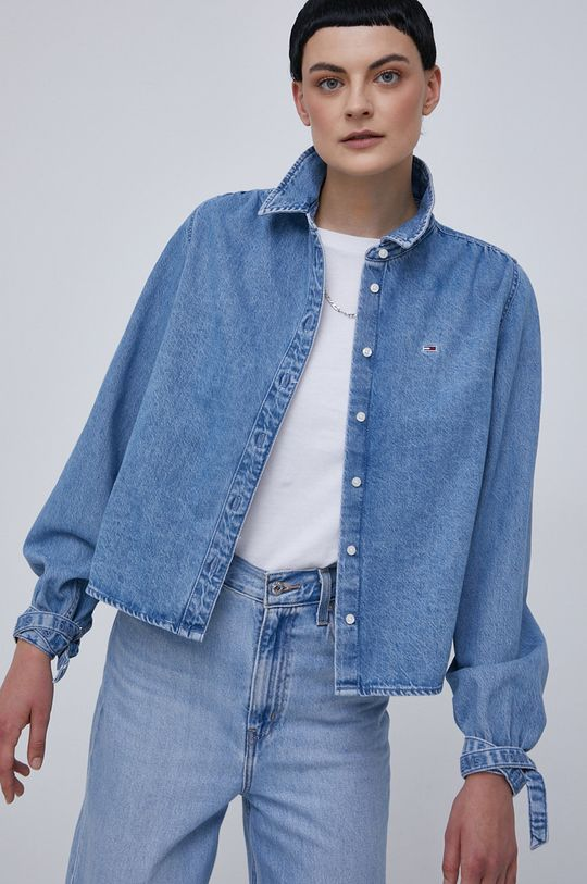Tommy Jeans - Koszula bawełniana niebieski