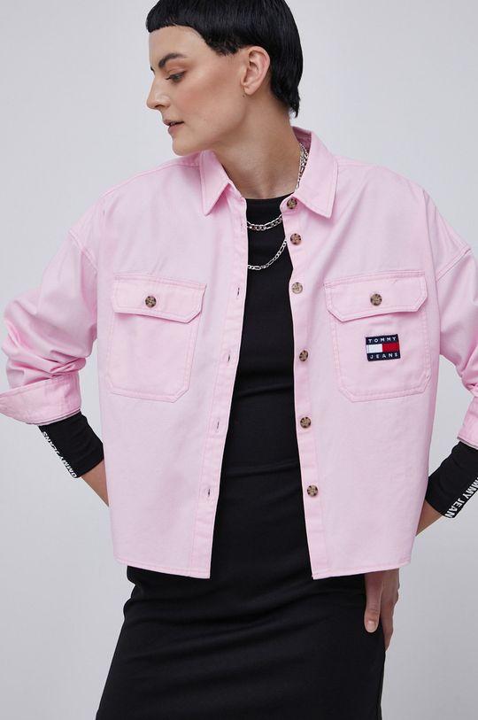 różowy Tommy Jeans - Koszula bawełniana Damski