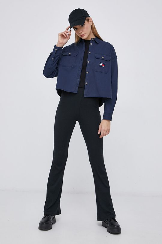 granatowy Tommy Jeans - Koszula bawełniana Damski