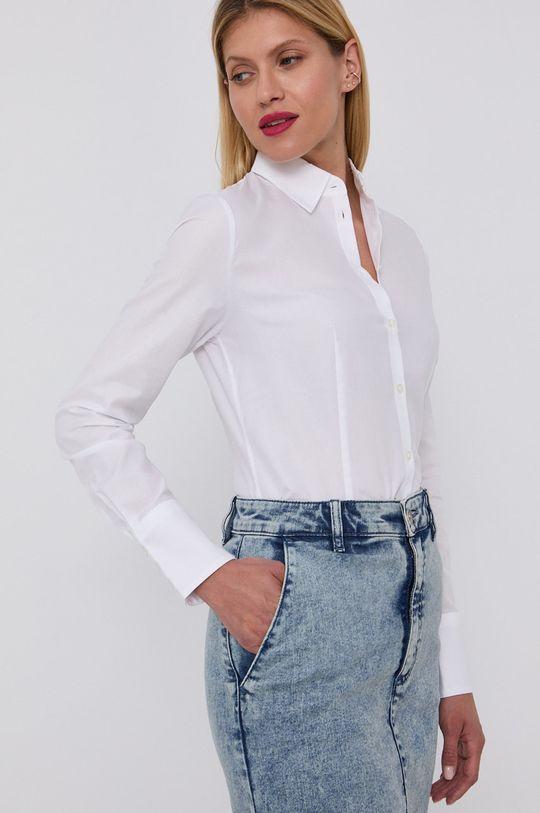Hugo - Bavlněné tričko bílá