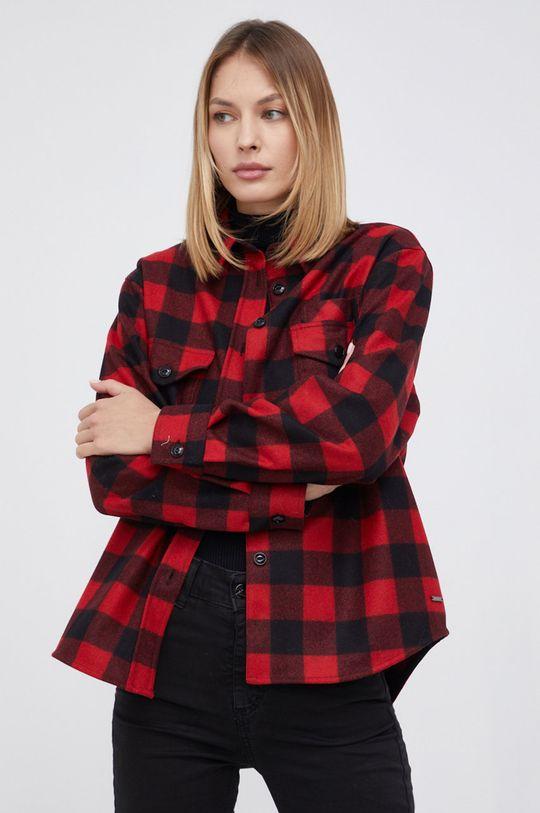 ostry czerwony WOOLRICH - Koszula wełniana Damski