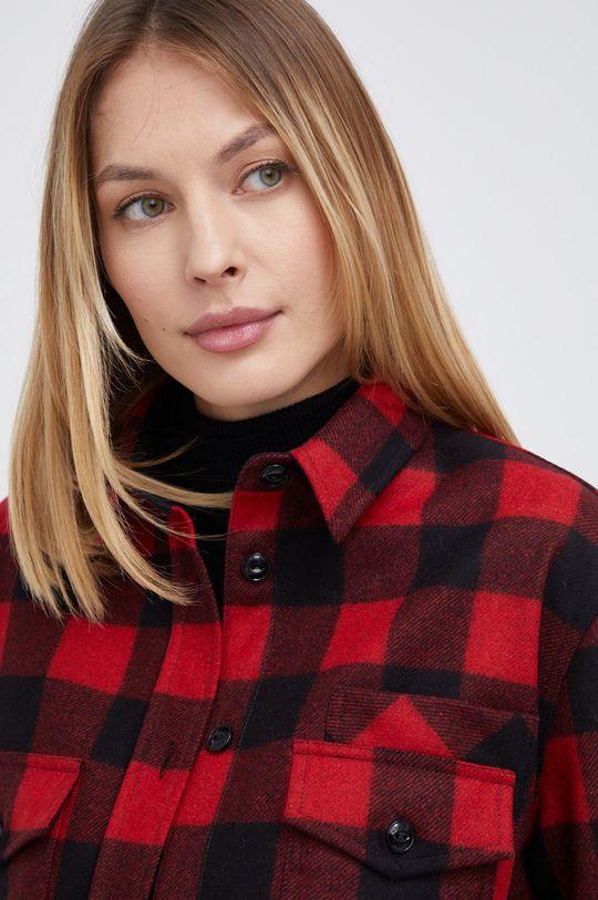ostry czerwony WOOLRICH - Koszula wełniana