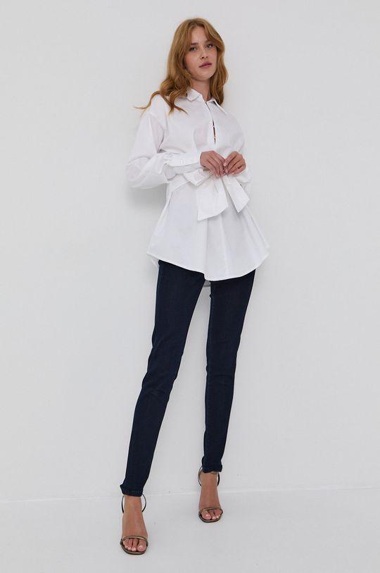 alb Guess - Bluza din bumbac De femei