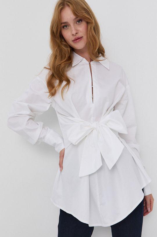 Guess - Bluza din bumbac alb