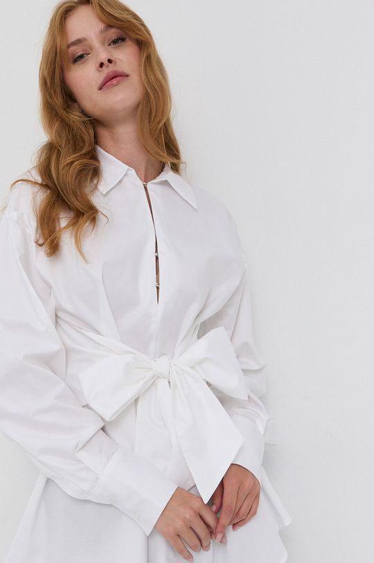 alb Guess - Bluza din bumbac