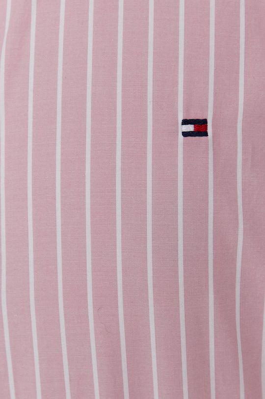 Tommy Hilfiger - Bavlněné tričko růžová