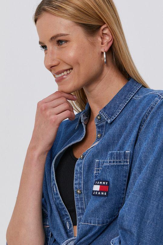 niebieski Tommy Jeans - Koszula bawełniana jeansowa
