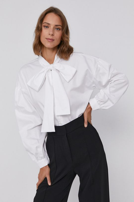 biały Armani Exchange - Koszula bawełniana Damski