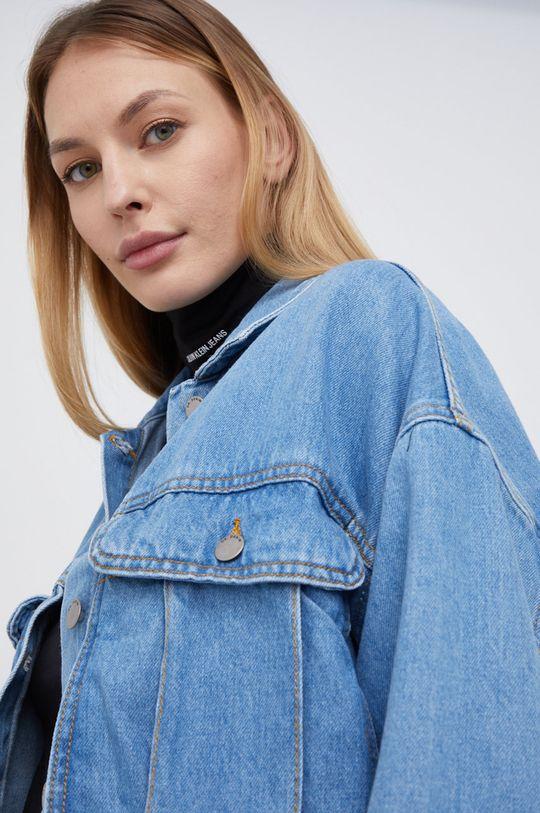 fioletowy Dr. Denim - Koszula bawełniana jeansowa