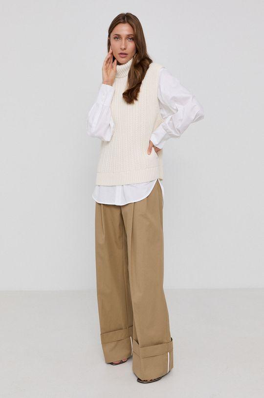 Victoria Victoria Beckham - Bavlnená košeľa biela