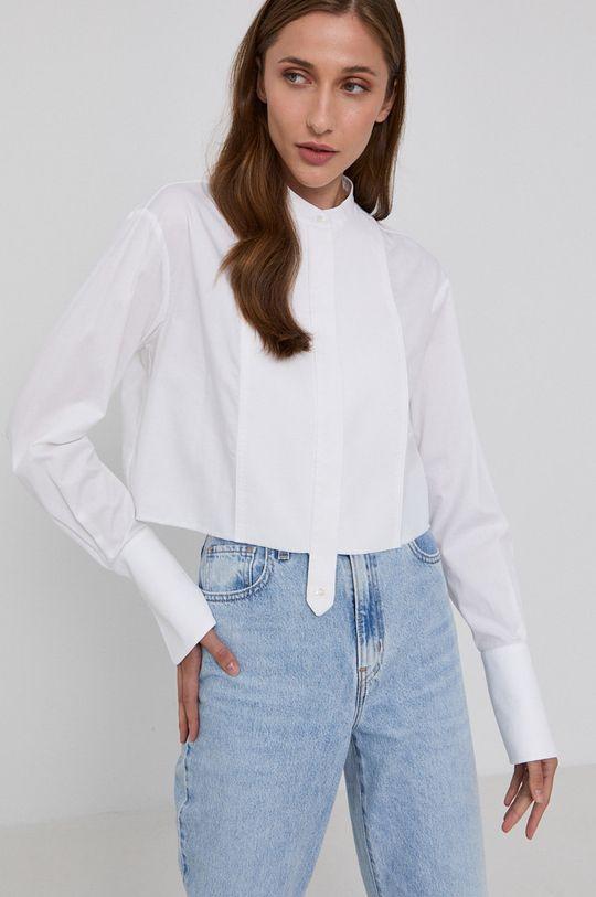 biały Victoria Victoria Beckham - Koszula bawełniana Damski