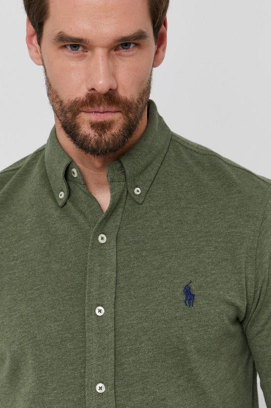 brudny zielony Polo Ralph Lauren - Koszula bawełniana Męski