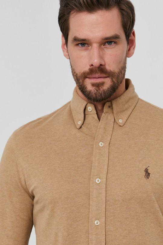 złoty brąz Polo Ralph Lauren - Koszula bawełniana Męski