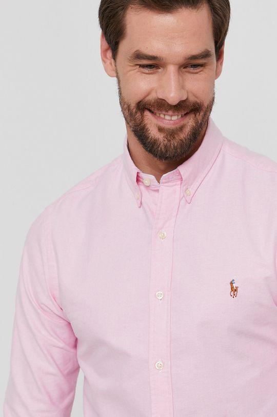 růžová Polo Ralph Lauren - Bavlněné tričko Pánský