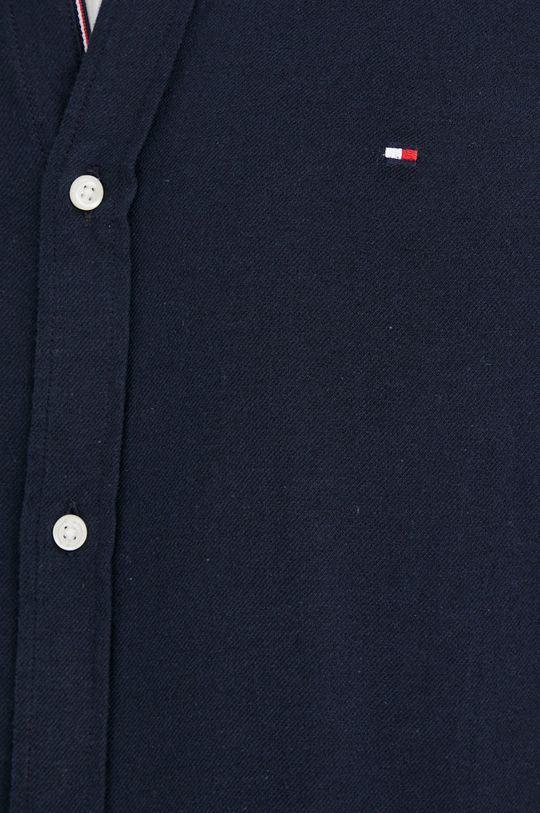 Tommy Hilfiger - Košile ze směsi lnu námořnická modř