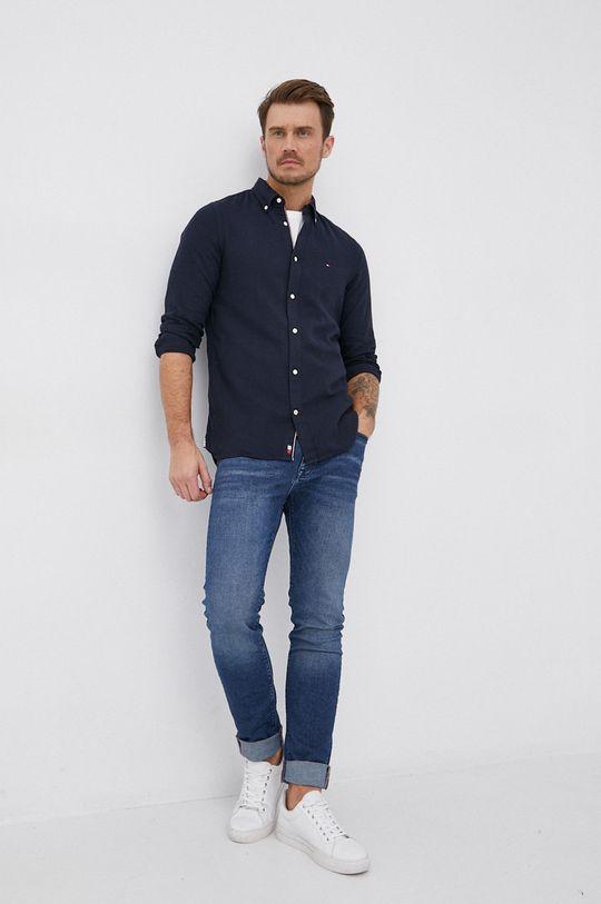 Tommy Hilfiger - Košile ze směsi lnu  65% Bavlna, 35% Len
