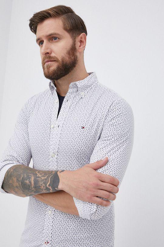 biały Tommy Hilfiger - Koszula bawełniana Męski