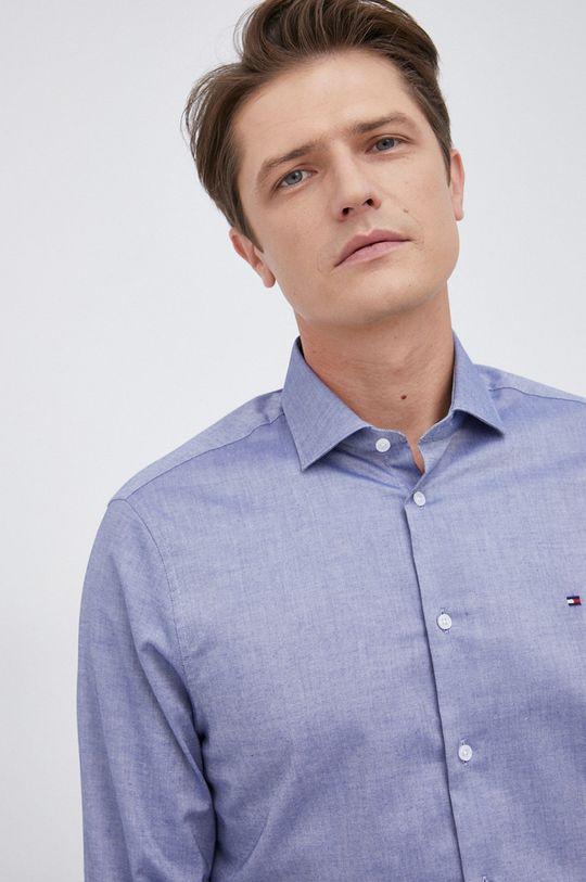 niebieski Tommy Hilfiger - Koszula bawełniana Męski