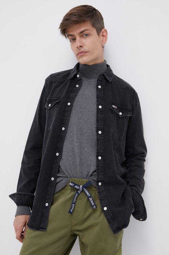 czarny Tommy Jeans - Koszula jeansowa Męski