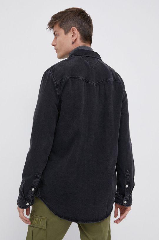 czarny Tommy Jeans - Koszula jeansowa