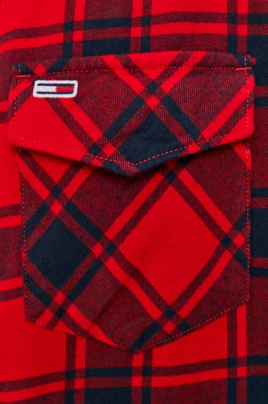 Tommy Jeans - Koszula bawełniana czerwony