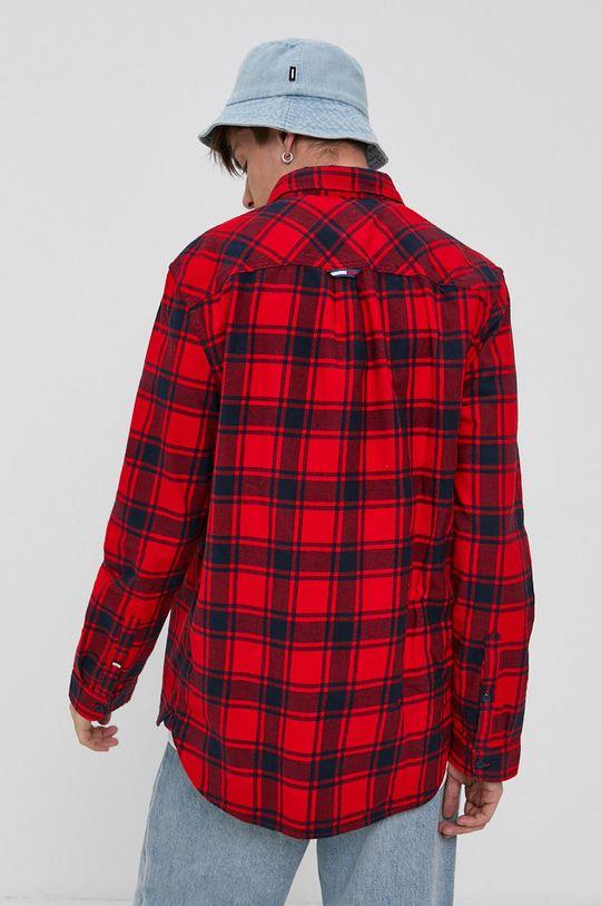 czerwony Tommy Jeans - Koszula bawełniana