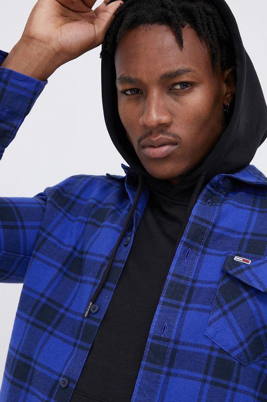 fioletowy Tommy Jeans - Koszula bawełniana Męski