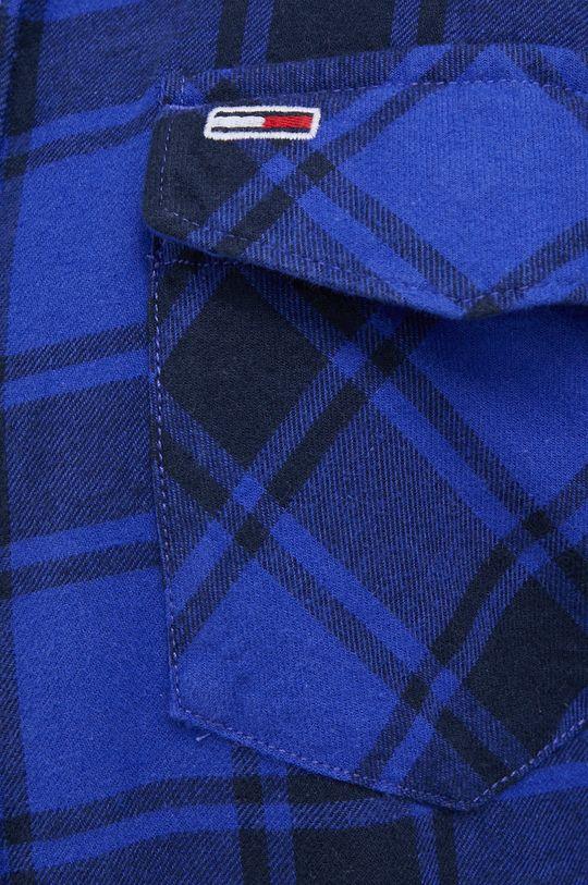 Tommy Jeans - Koszula bawełniana fioletowy