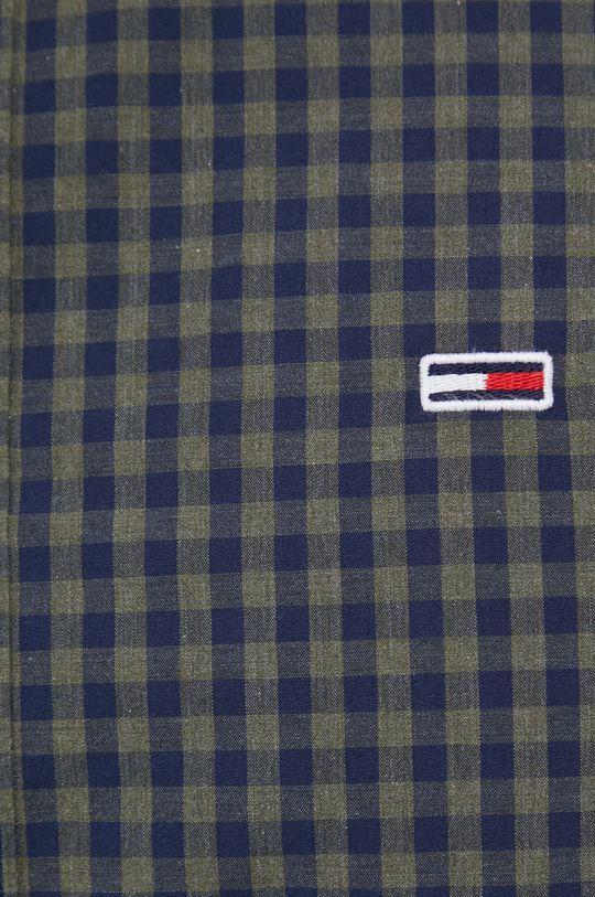 Tommy Jeans - Koszula bawełniana oliwkowy