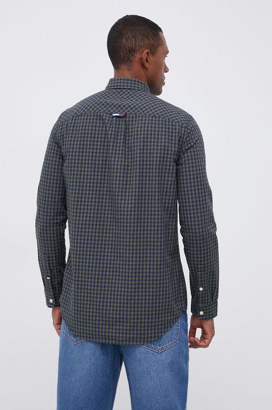 oliwkowy Tommy Jeans - Koszula bawełniana